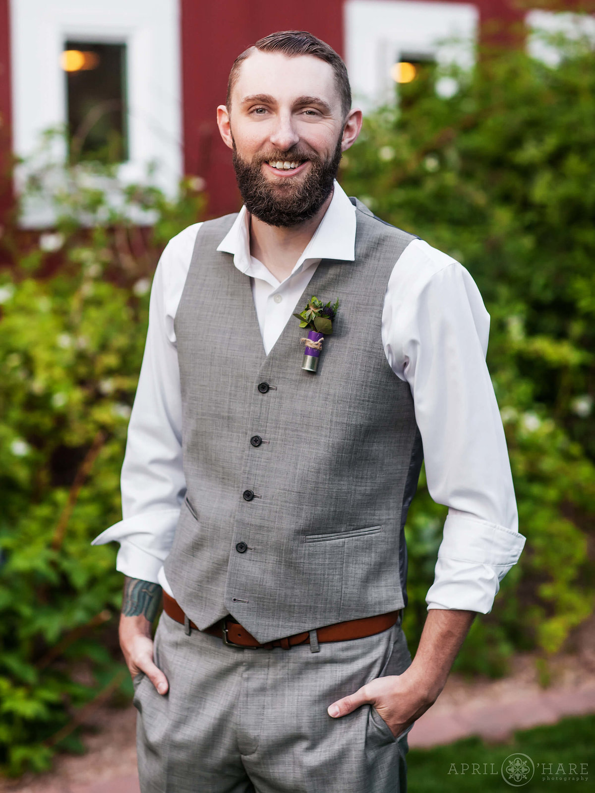Groom-with-Bullet-Boutonniere-Wedding-Photographer-in-Denver-Colorado