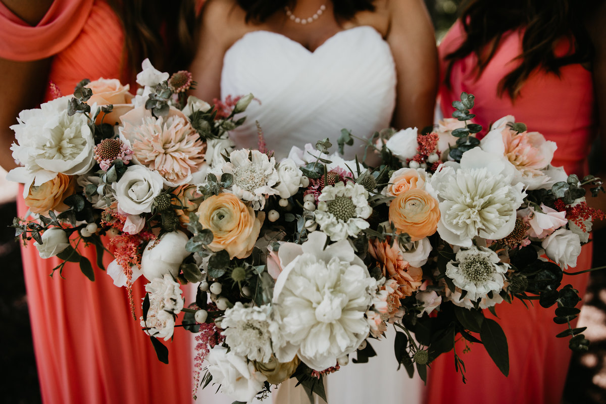 Wedding Flowers in bouquets at The Tanglewood Club in Chagrin Falls Ohio