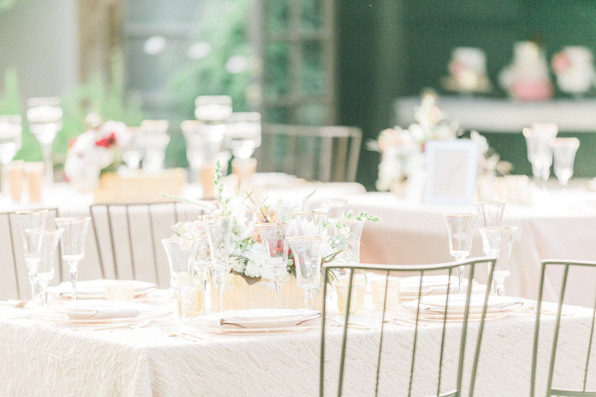 Blush Outdoor Wedding Reception
