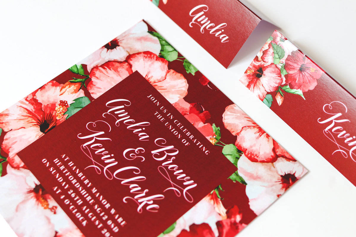 Floral Tropical Stationery