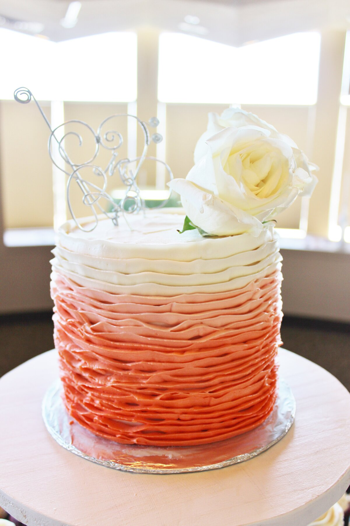 Buttercreamruffles.colorfulorange.ombre