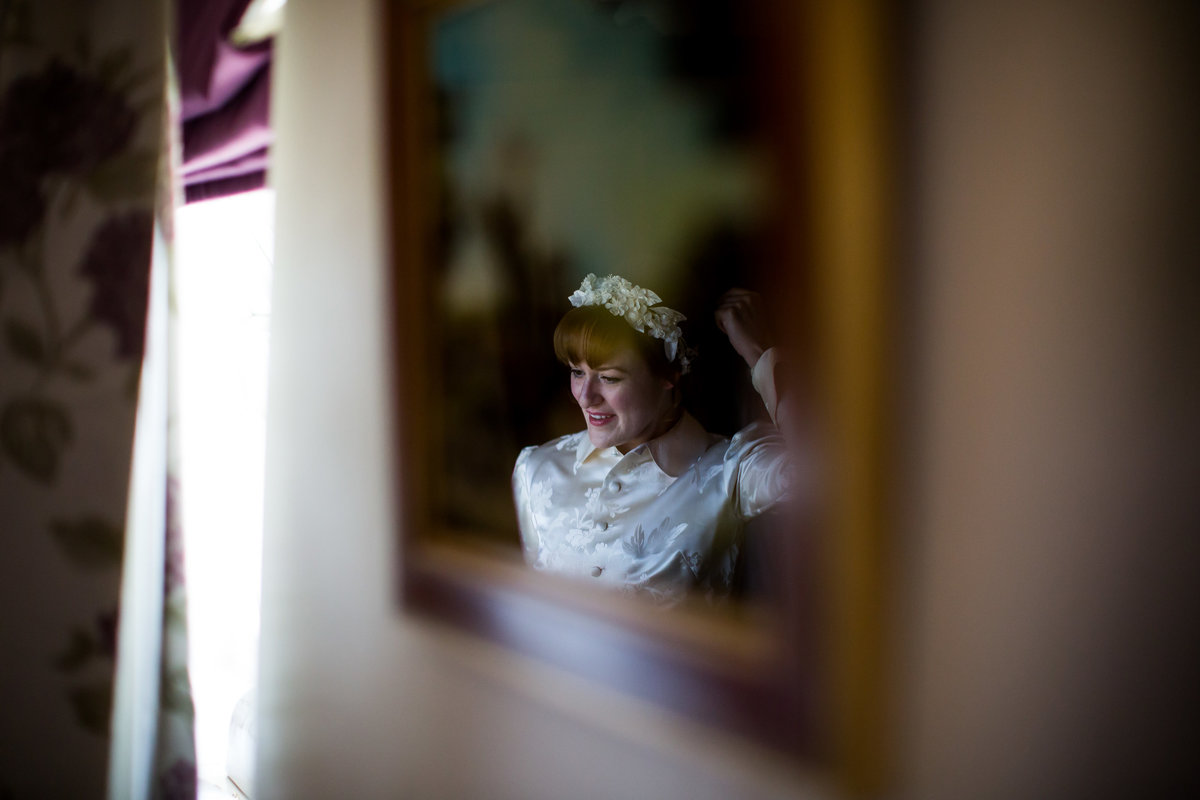 bride at edgemoor hotel devon