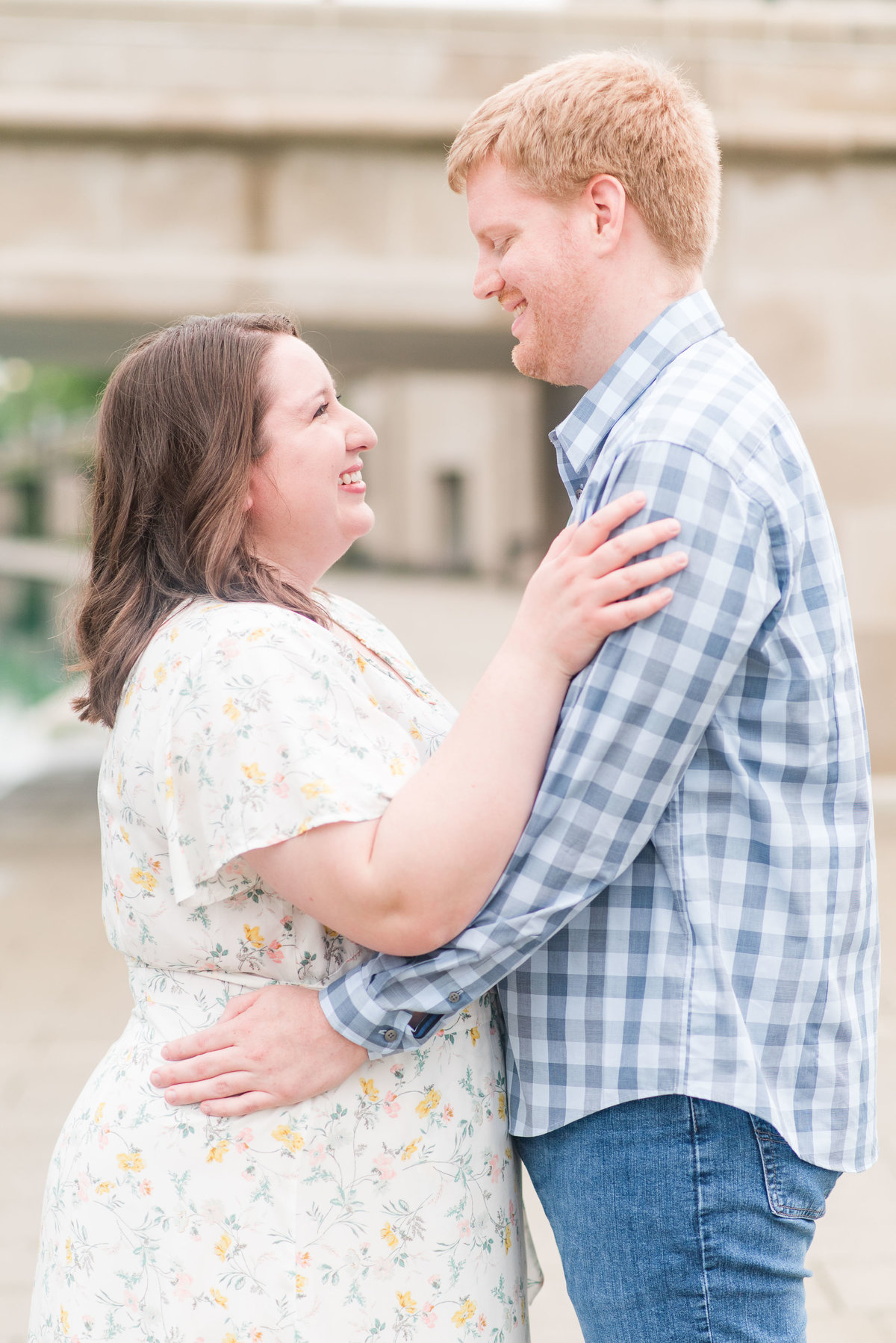 Cait Potter Creative LLC Canal Indianapolis White River State Park Spring Engagement Photos-1