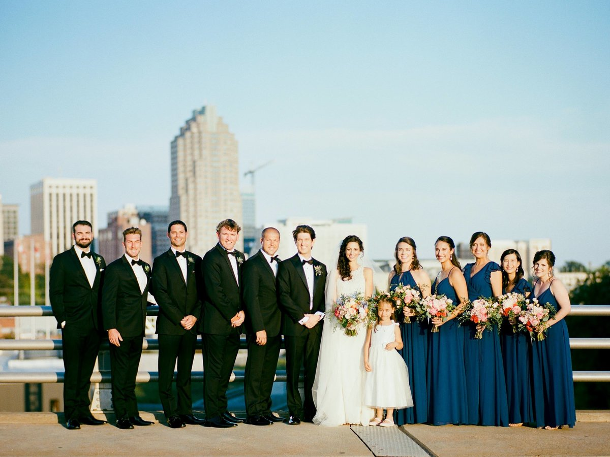 Boylan Bridge wedding party raleigh nc