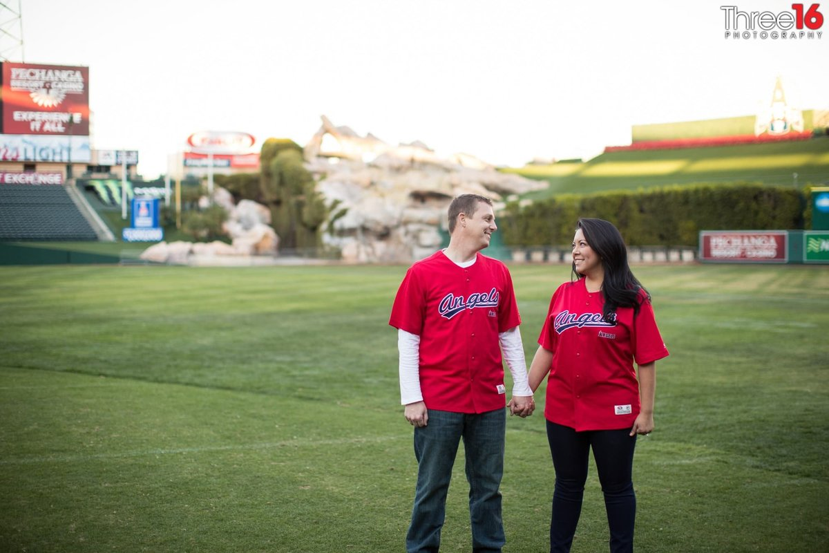 Angel Stadium Engagement Orange County Weddings