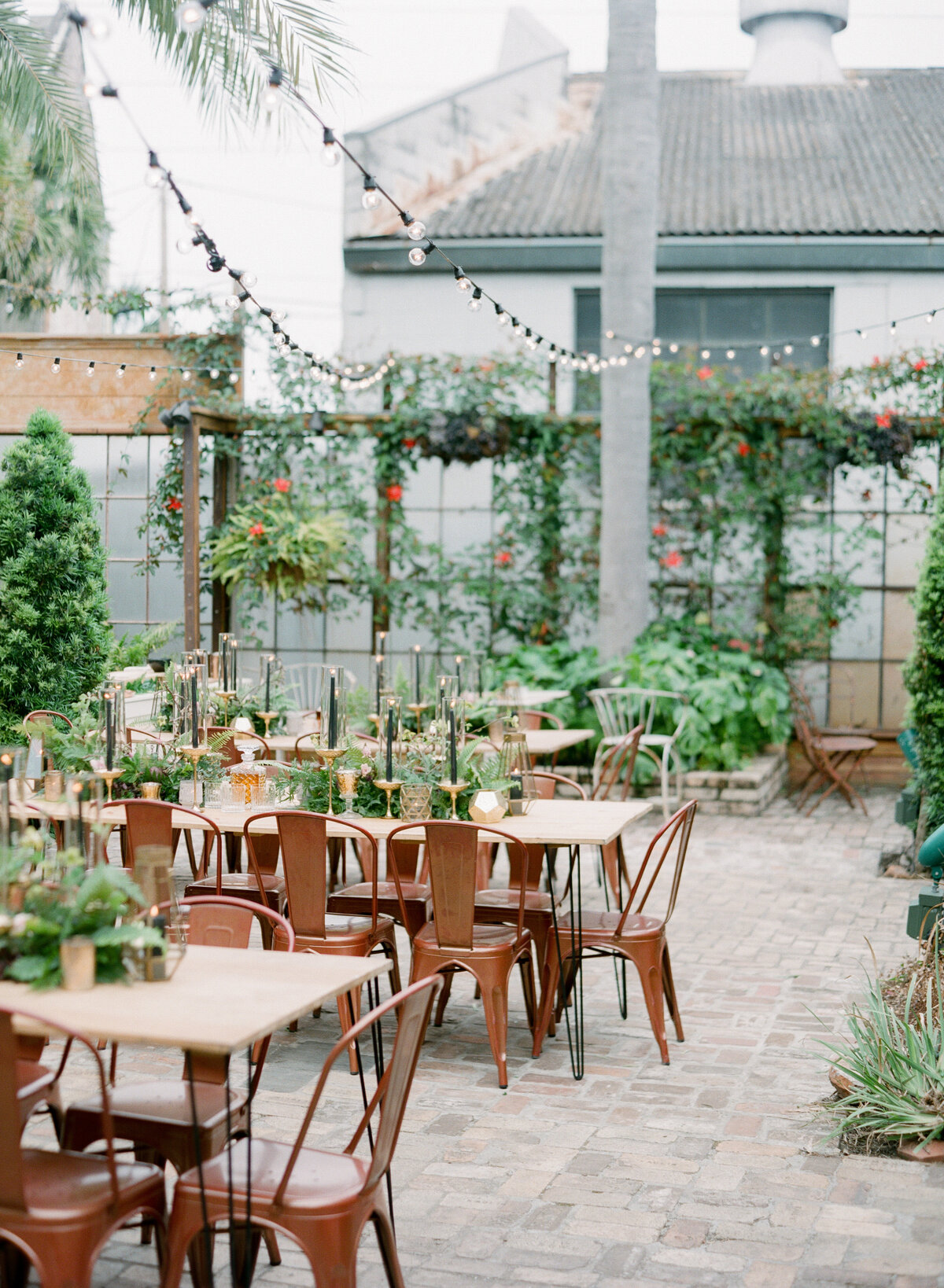 Copper chairs new orleans wedding