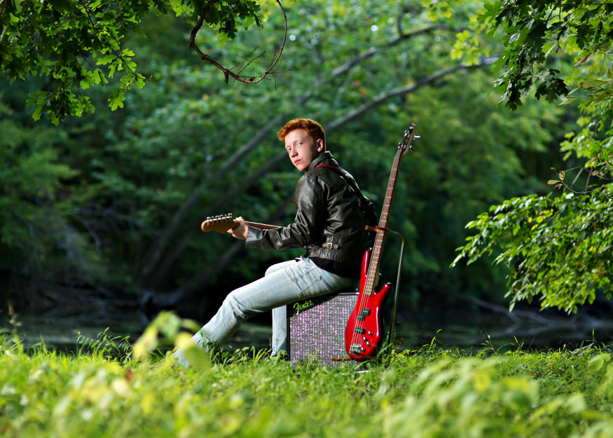senior pictures mason michigan electric guitar