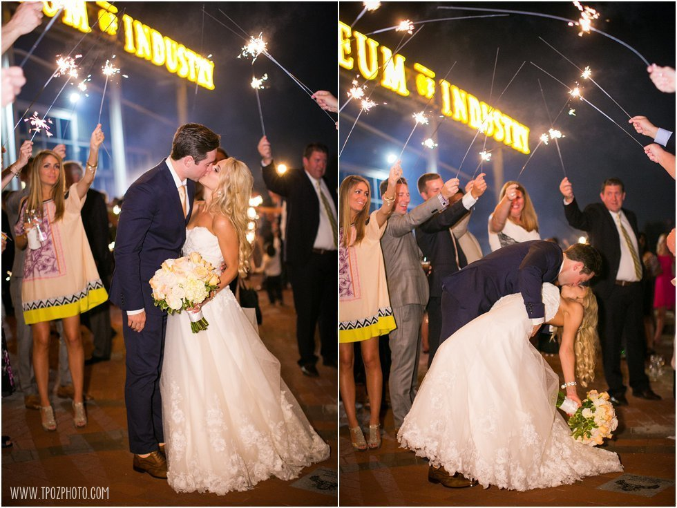 Baltimore Museum of Industry Wedding Sparkler exit dip