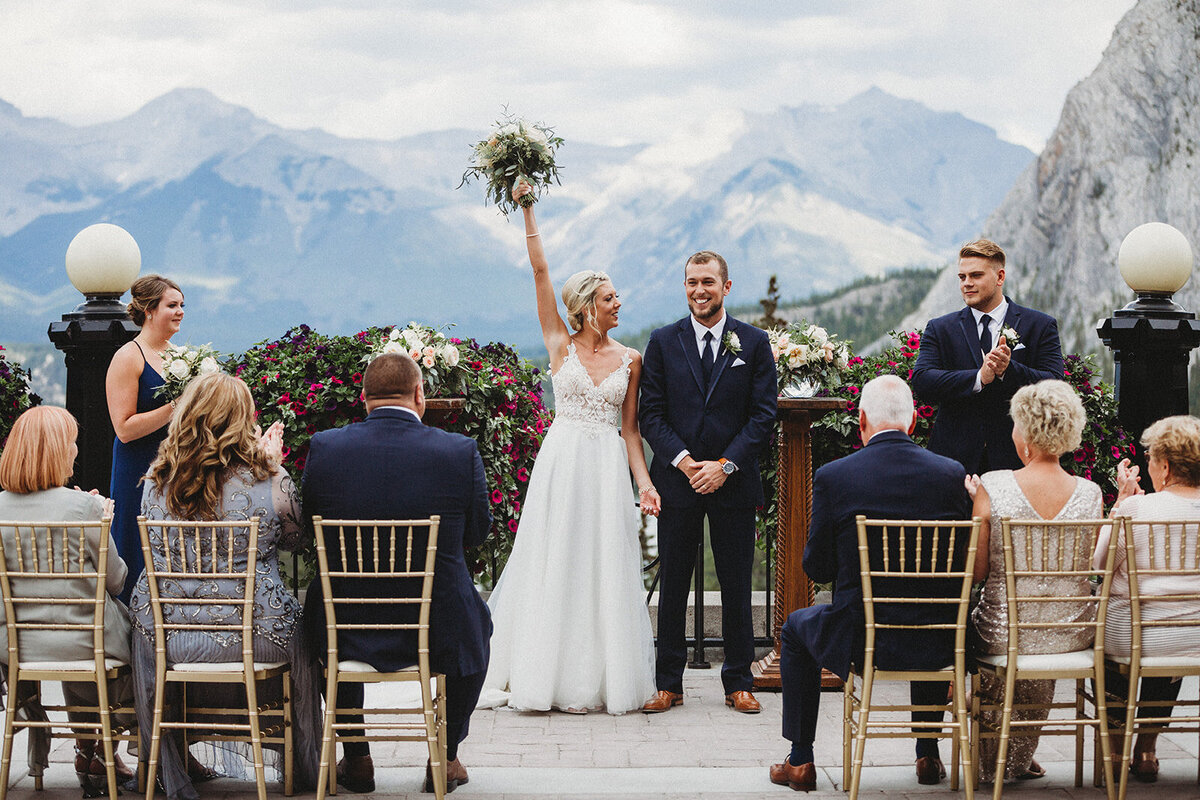 Fairmont Banff Springs Upper Terrace Wedding - Banff Wedding Planner