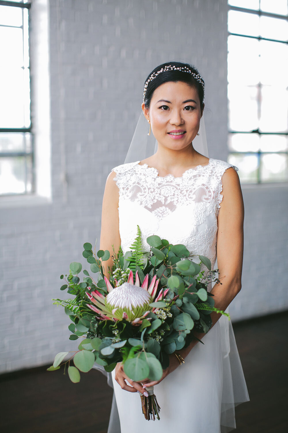 Ambient Plus Studio Wedding Atlanta Warehouse Wedding Asian Bride Korean Bride Natural wedding makeup