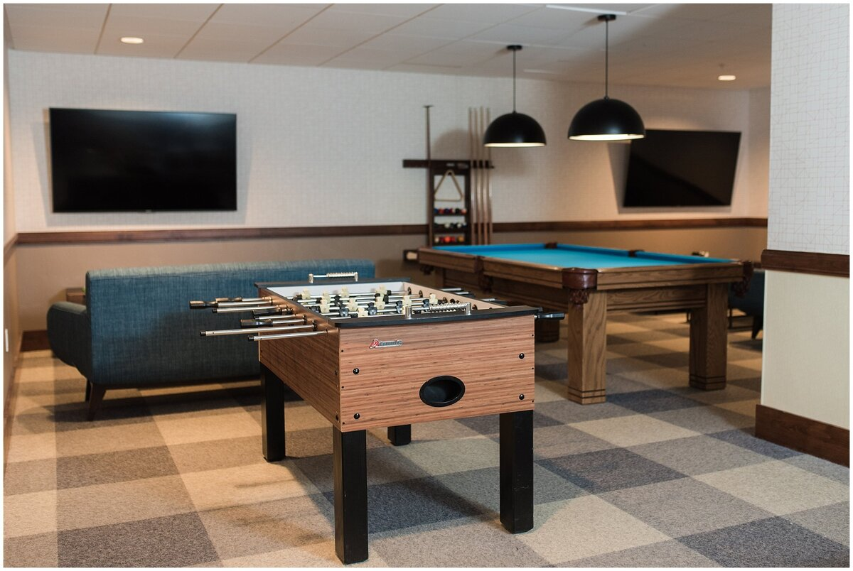 The game room at the Hyatt Centric Park City