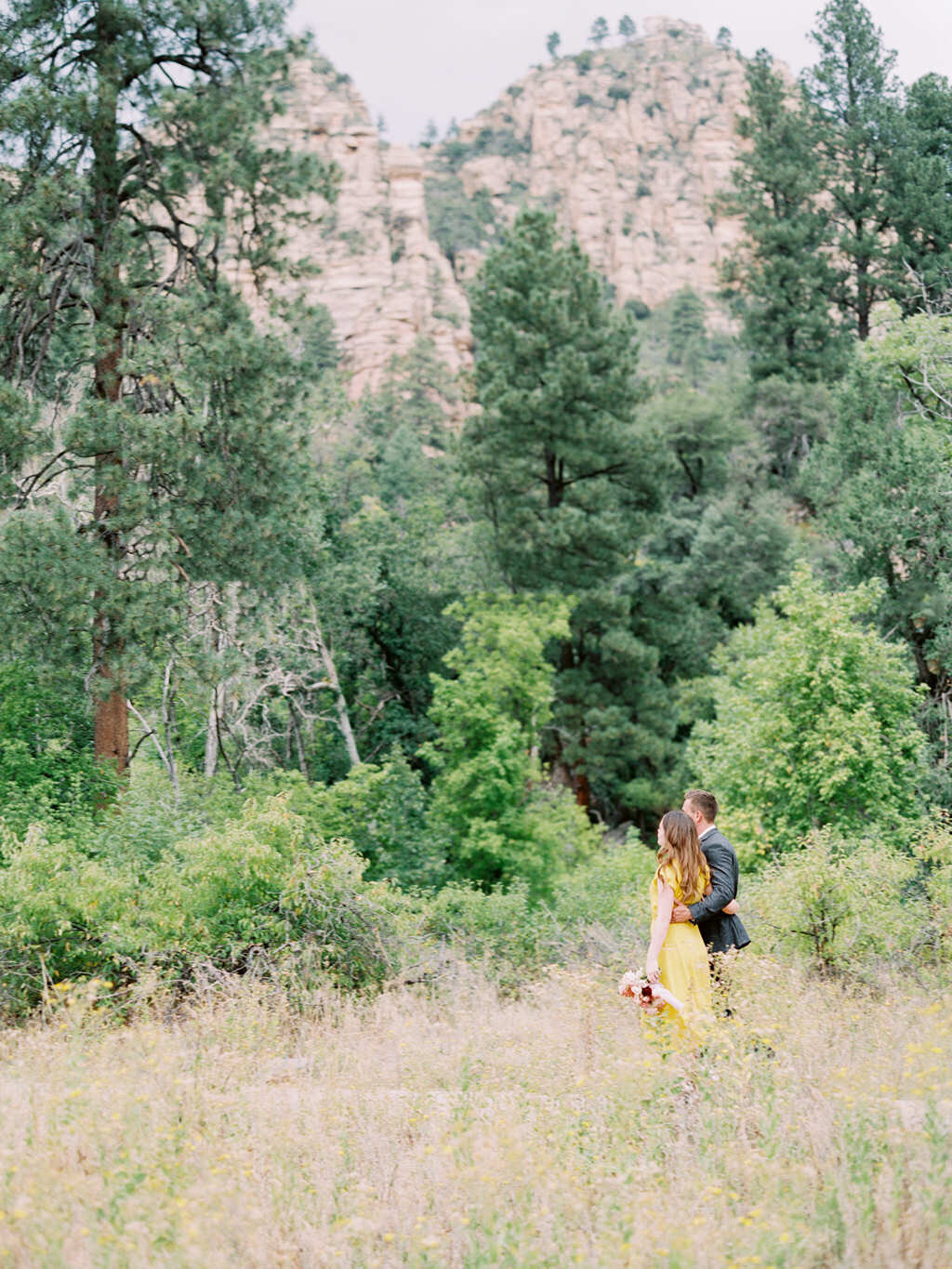 Aubrey & Joey Sedona West Fork Trail Fall Fine Art Engagement Session Ball Photo Co-7
