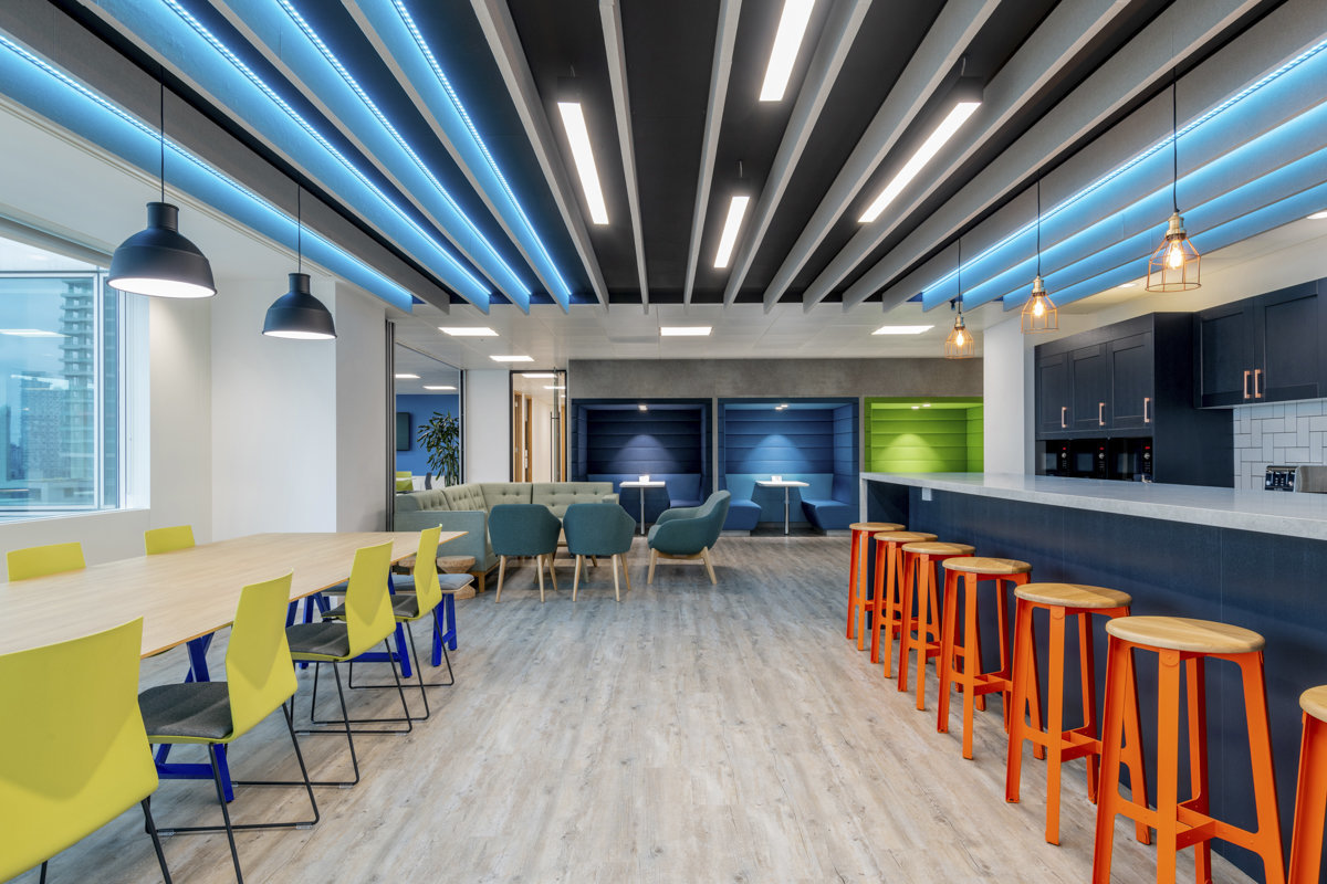 colourful commercial interior design