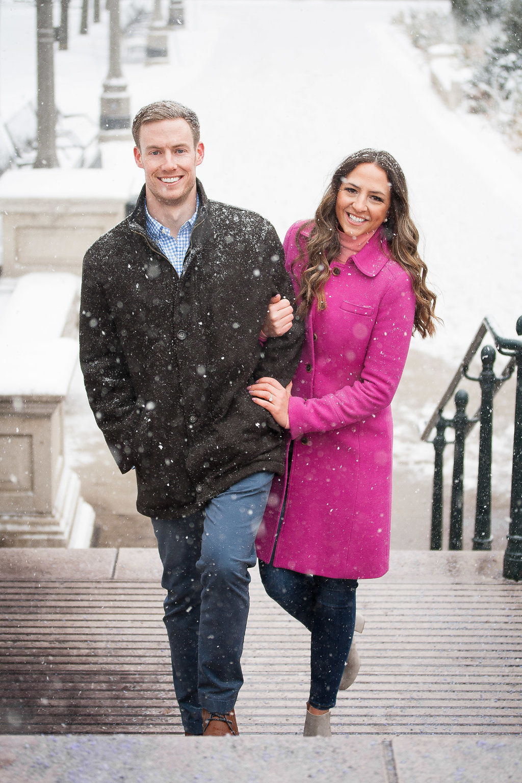 Millennium Park Chicago Illinois Winter Engagement Photographer Taylor Ingles 28
