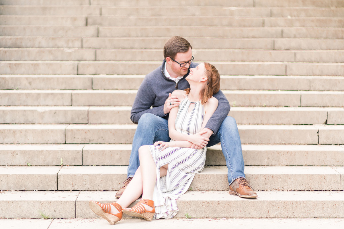 Cait Potter Creative LLC Holcomb Gardens Spring Engagement Photos-12