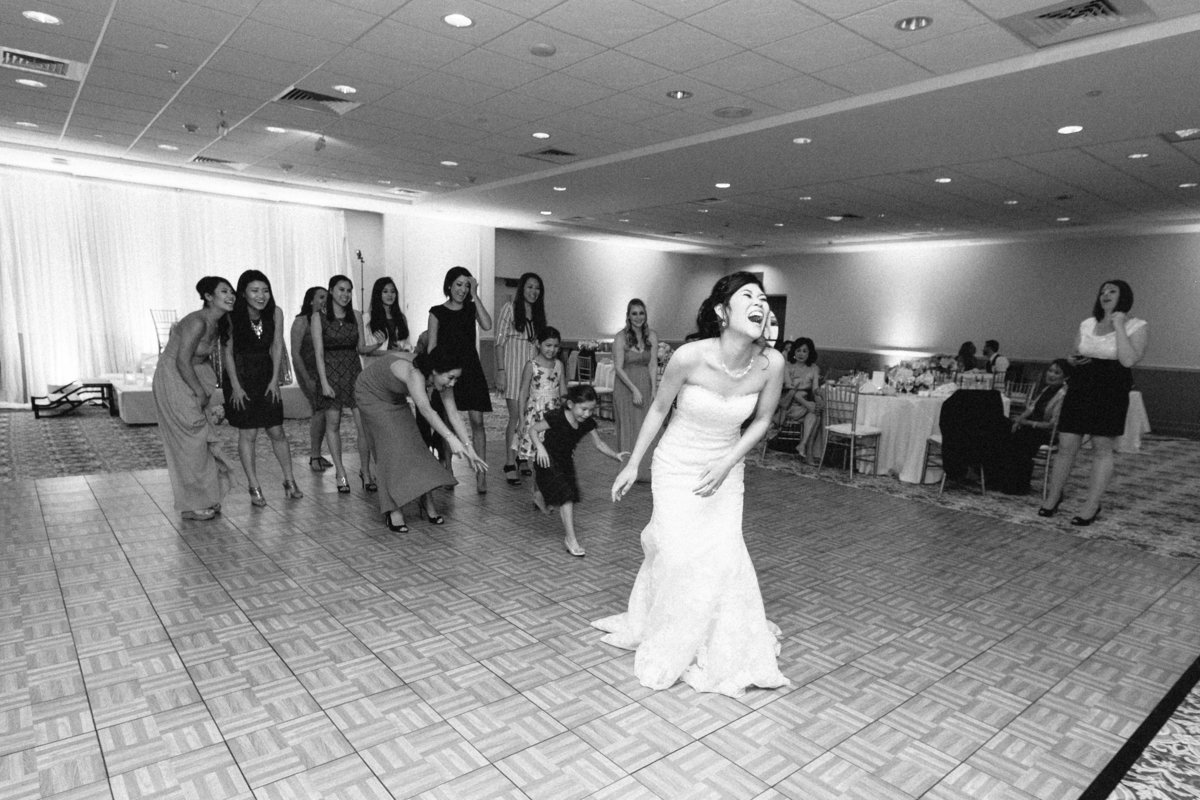 Bridal Bouquet Toss Wedding Reception