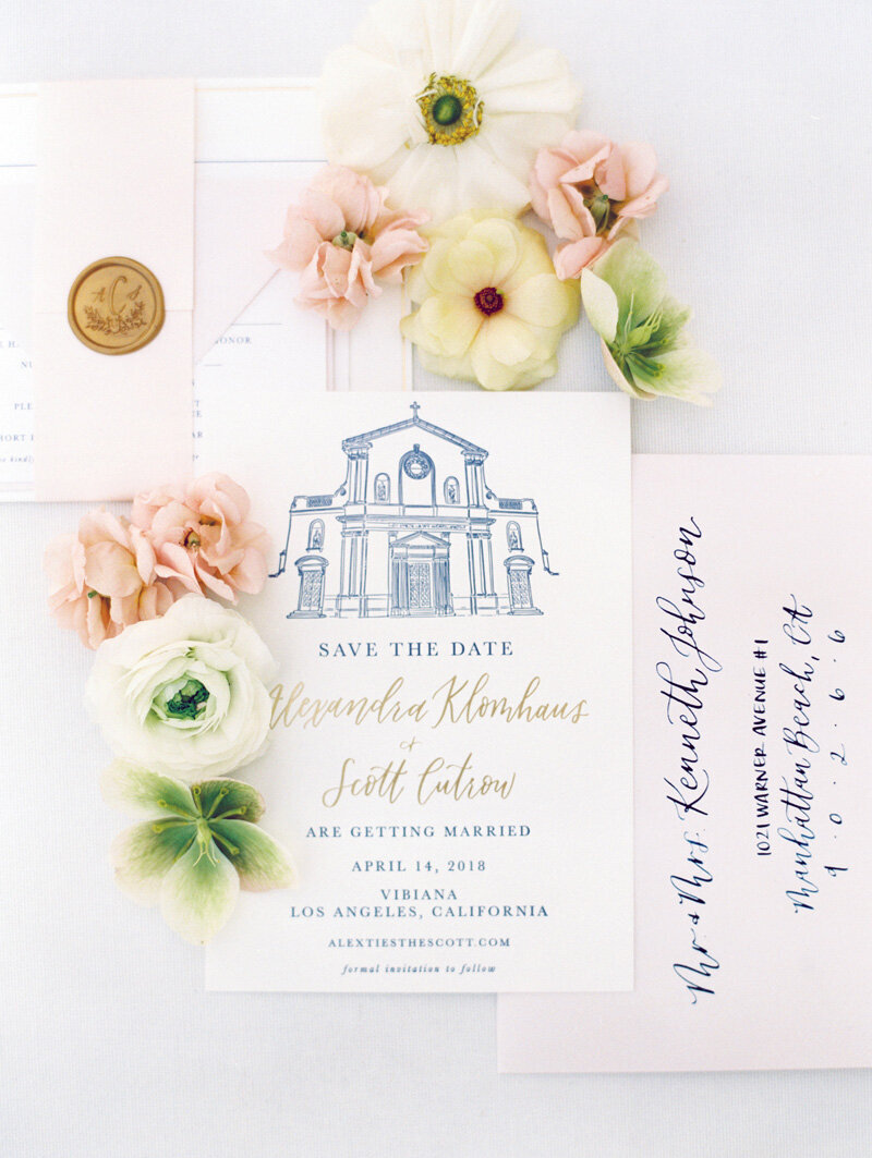 pirouettepaper.com | Wedding Stationery, Signage and Invitations | Pirouette Paper Company | Vibiana Downtown Los Angeles Wedding | Mallory Dawn Photography_ (16)