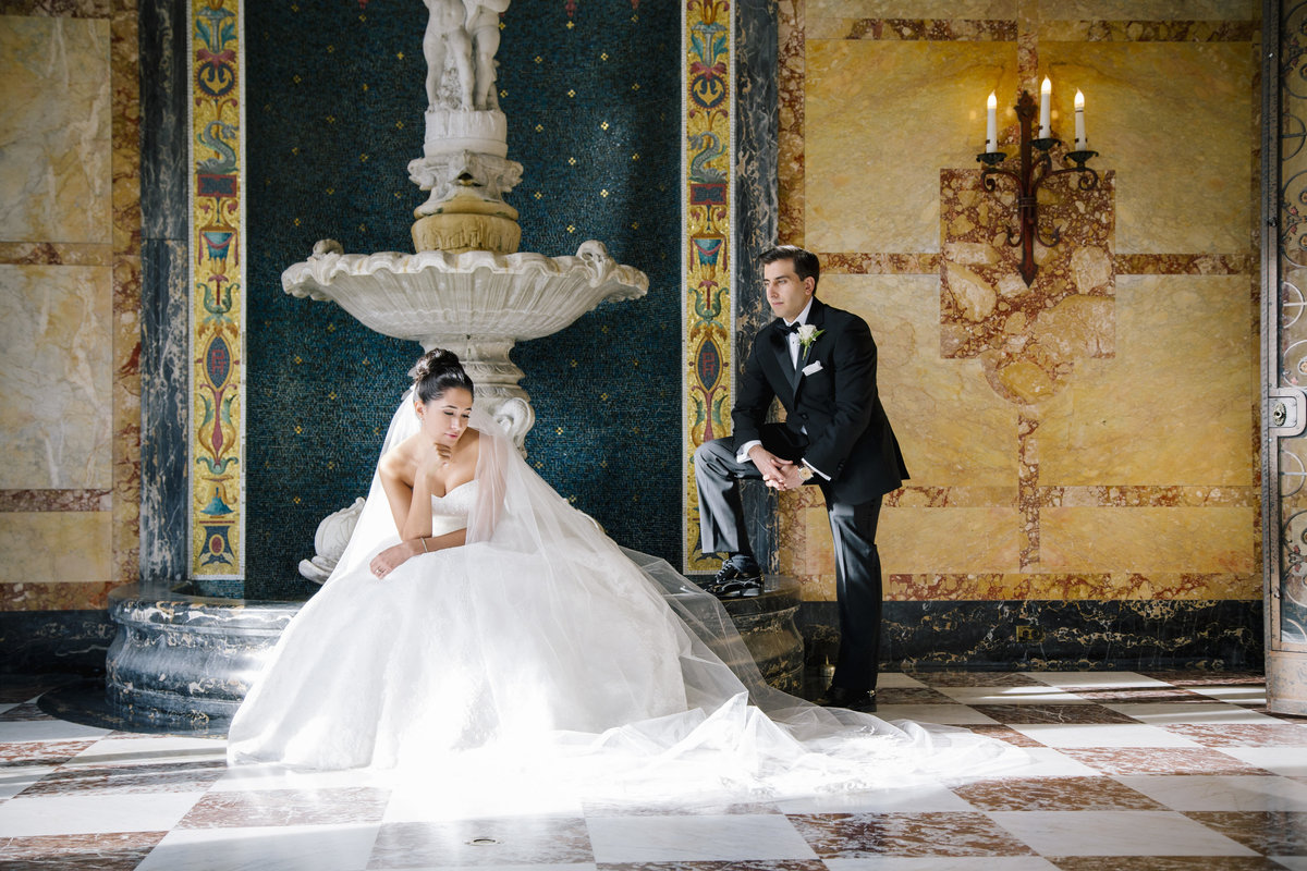 bride and groom at monmouth university wedding