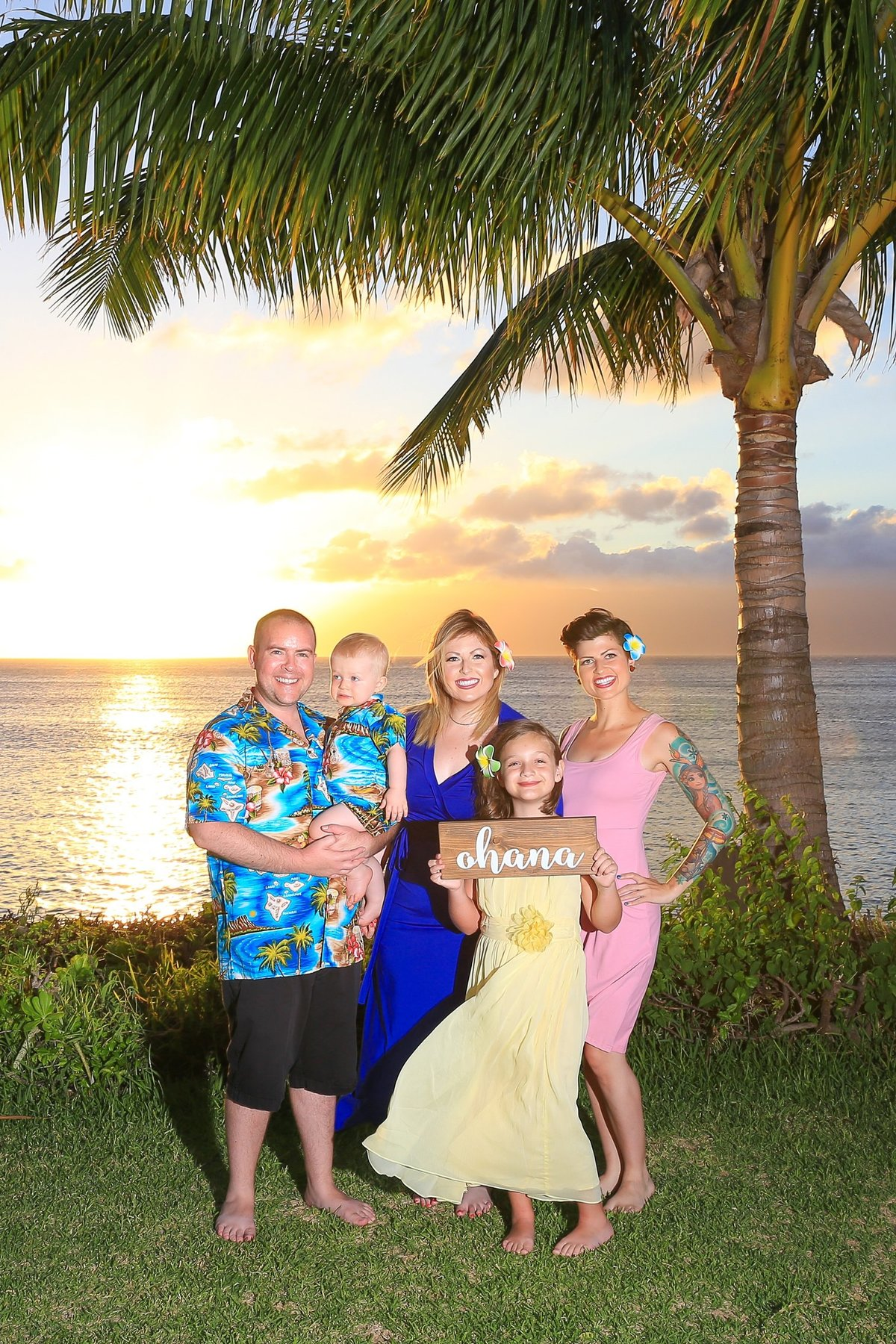 Capture Aloha Photography, Maui Family Portraits at beach in sunset