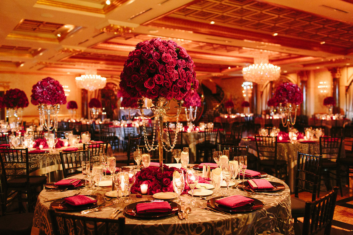 wedding the venetian red black silver