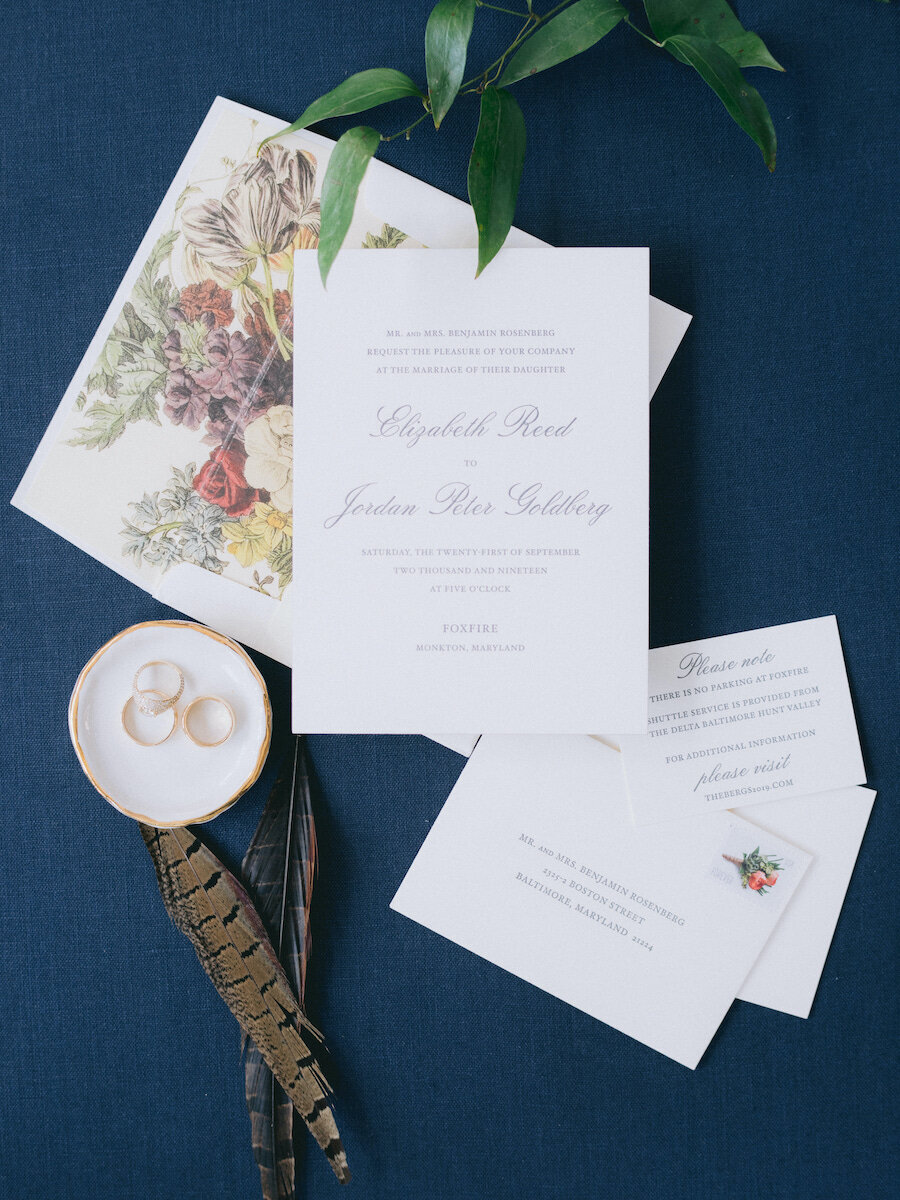 Classic and Traditional Wedding Invitations Robert Aveau for © Bonnie Sen Photography
