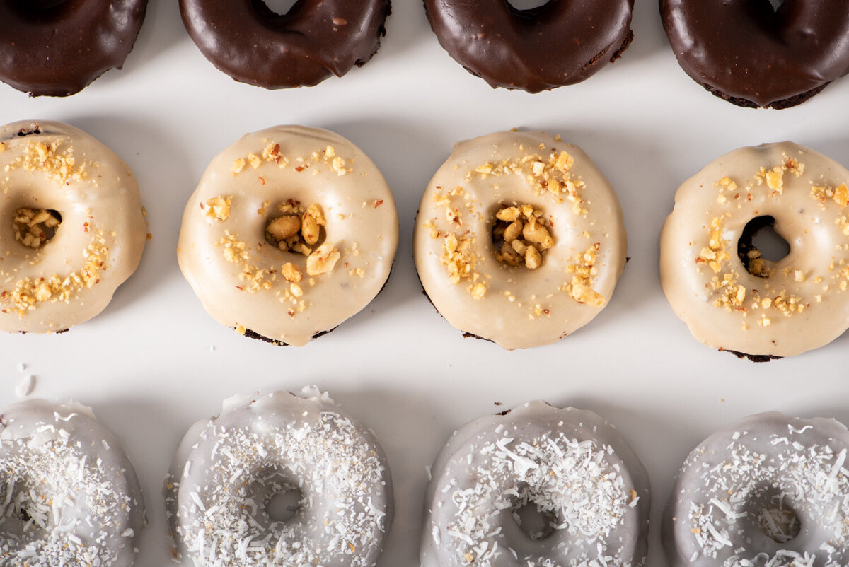 gluten free vegan donuts at the gluten free baking co