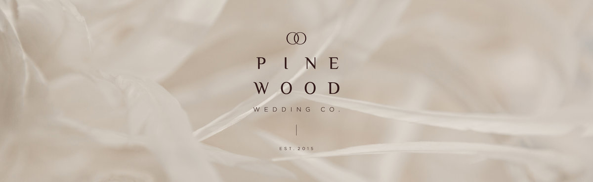 Pinewood Wedding Co. is a high end wedding designer. Branding crafted by Rhema Design Co.