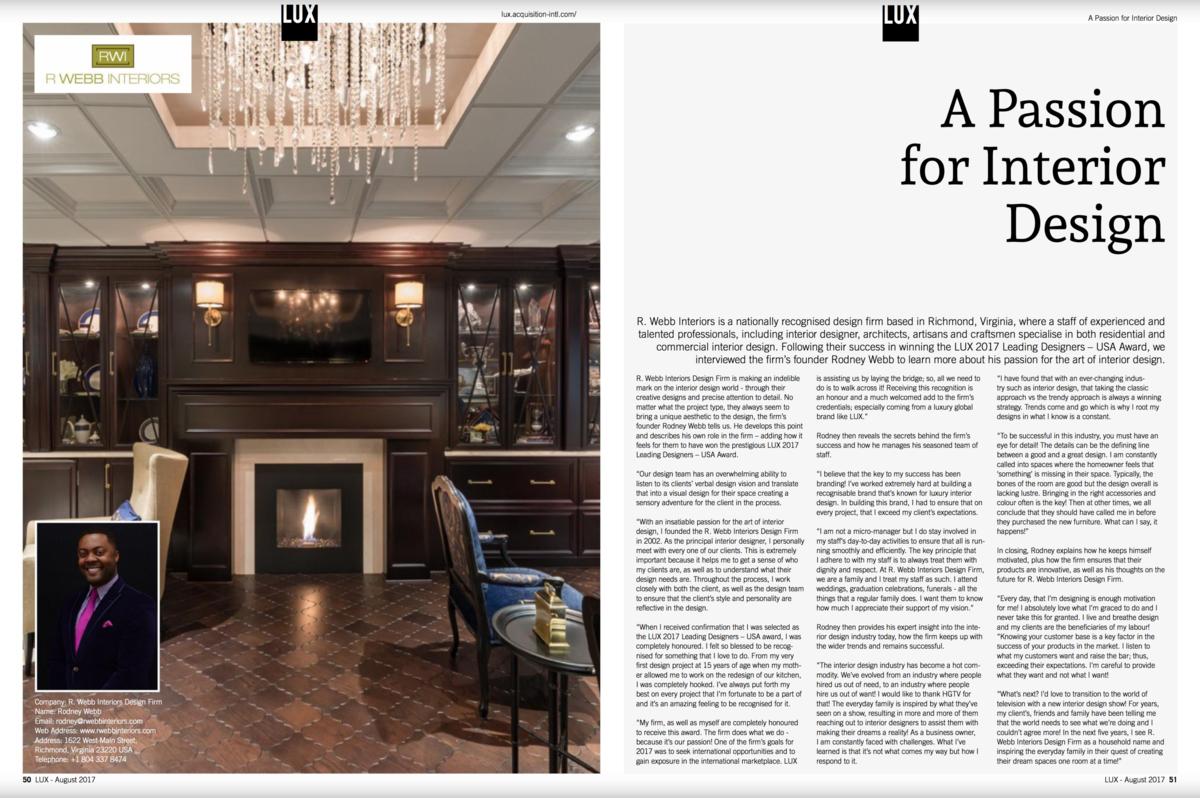 Lux   A Passion For Interior Design