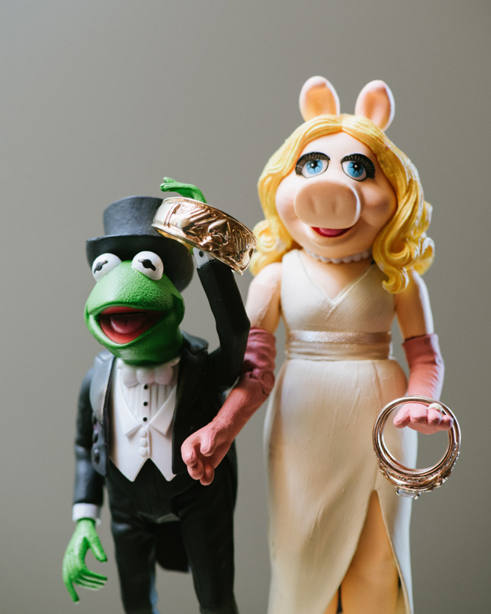 muppets cake topper fun funny quirky unique wedding love rings ringshot