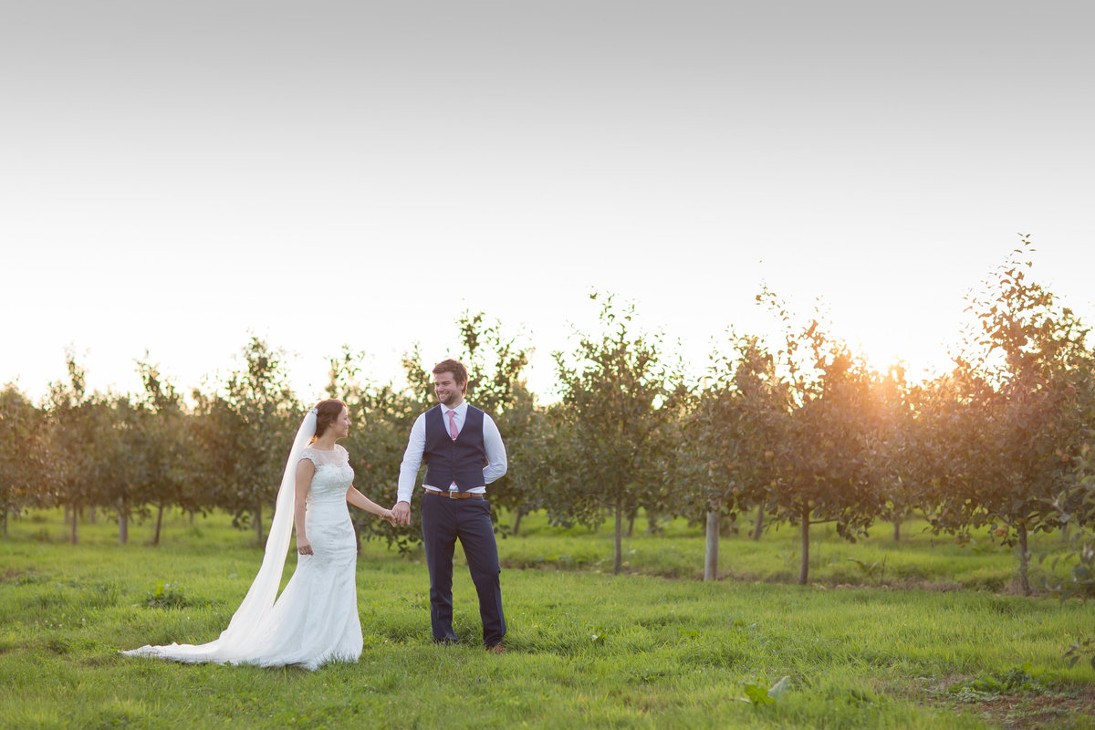the corn barn wedding photographer in devon evening light