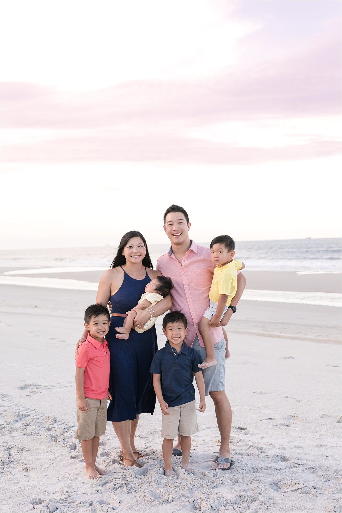 orlando family session on beach
