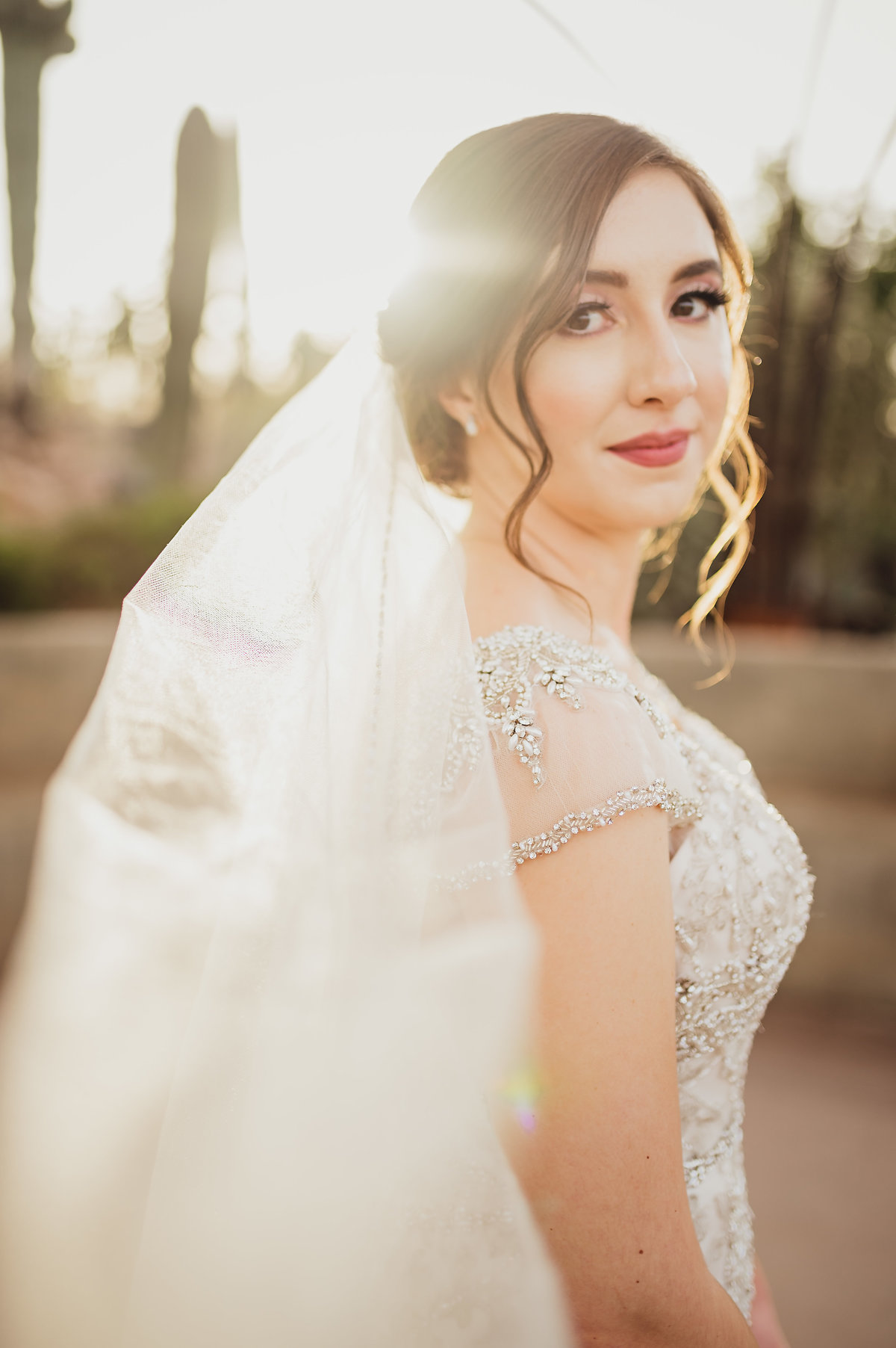 Arizona Wedding Photographer at Desert Botanical Gardens