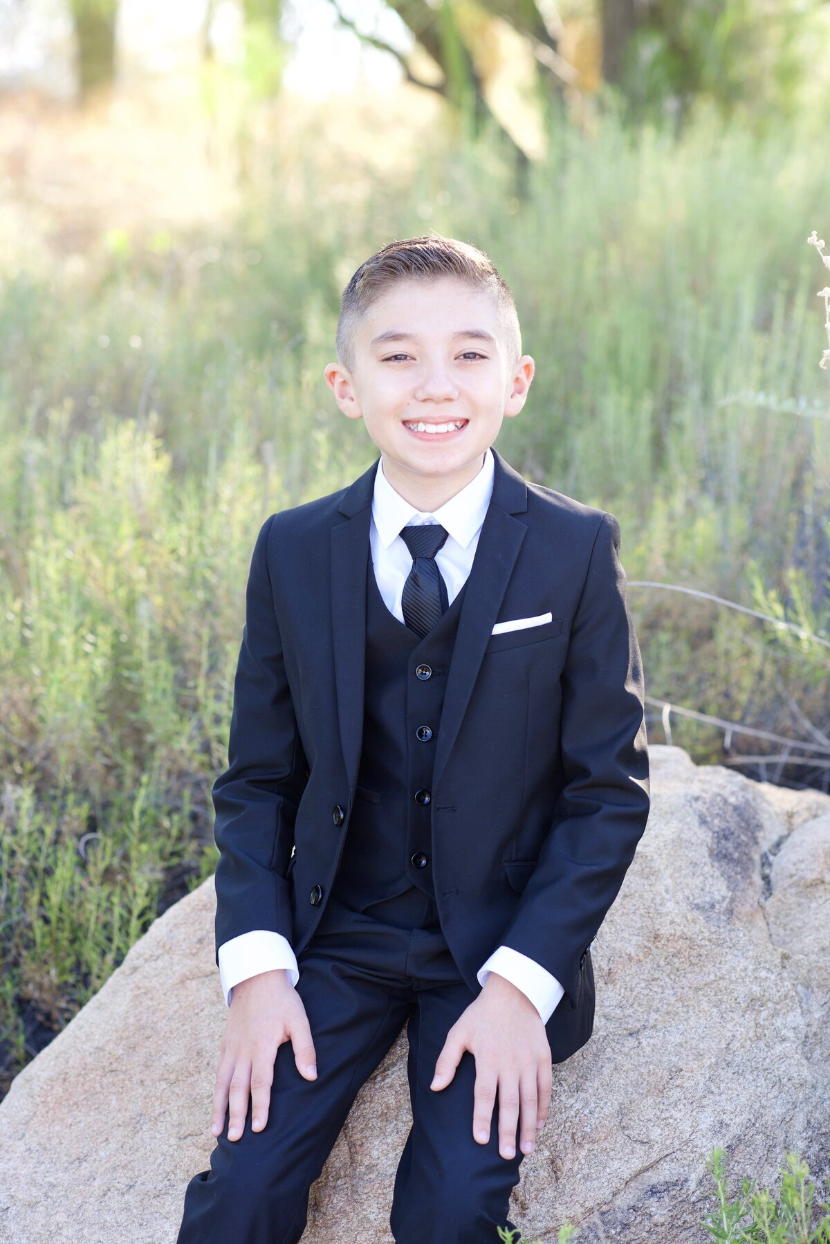 boy in a suit