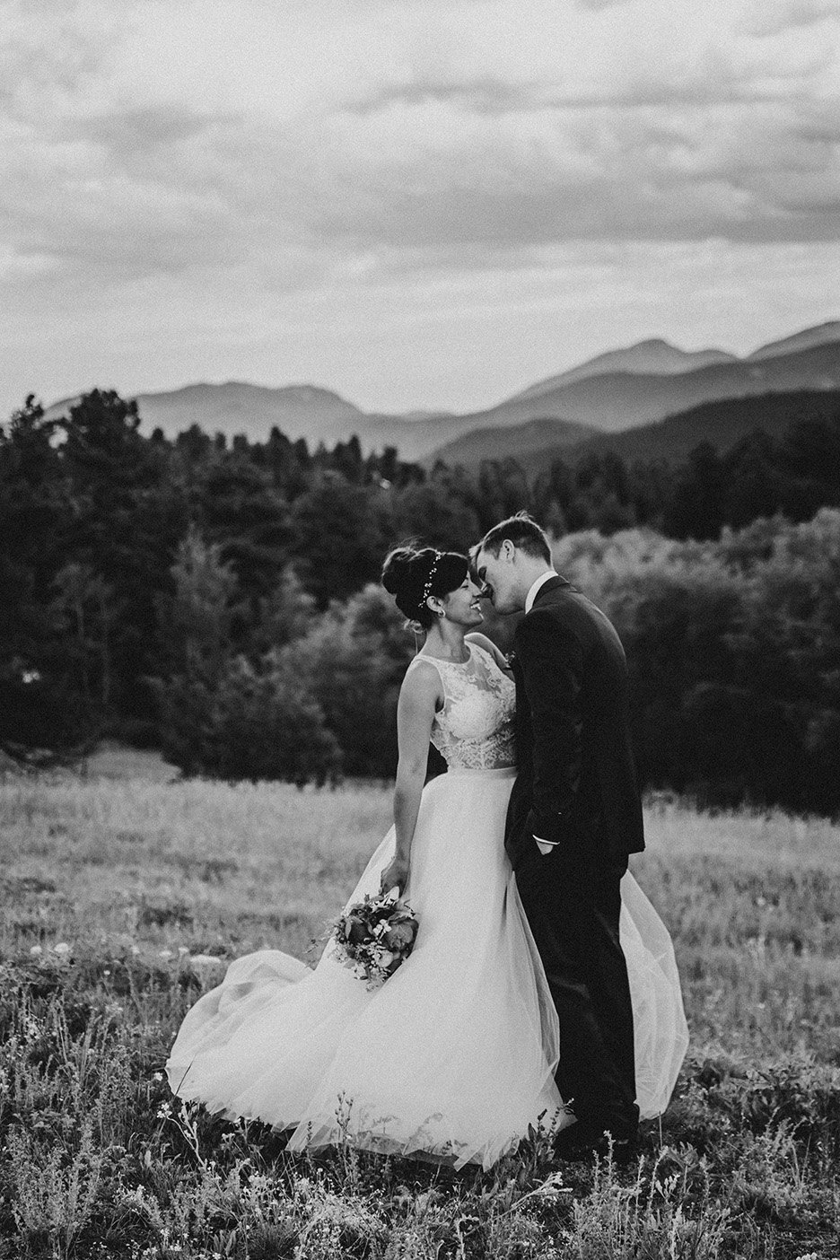 backyard wedding in Nederland, CO