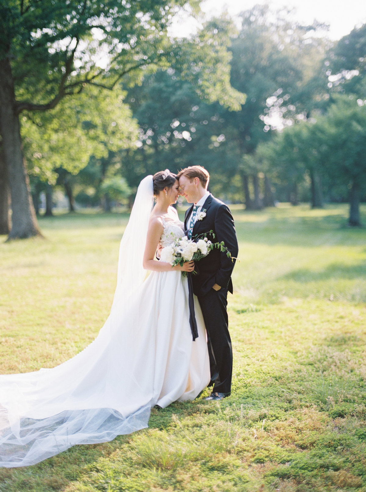 Soft and romantic wedding in Woodbridge and Fort Belvoir Officers Club.