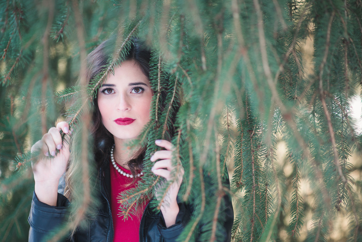 Senior Session Girl in Pine Tree