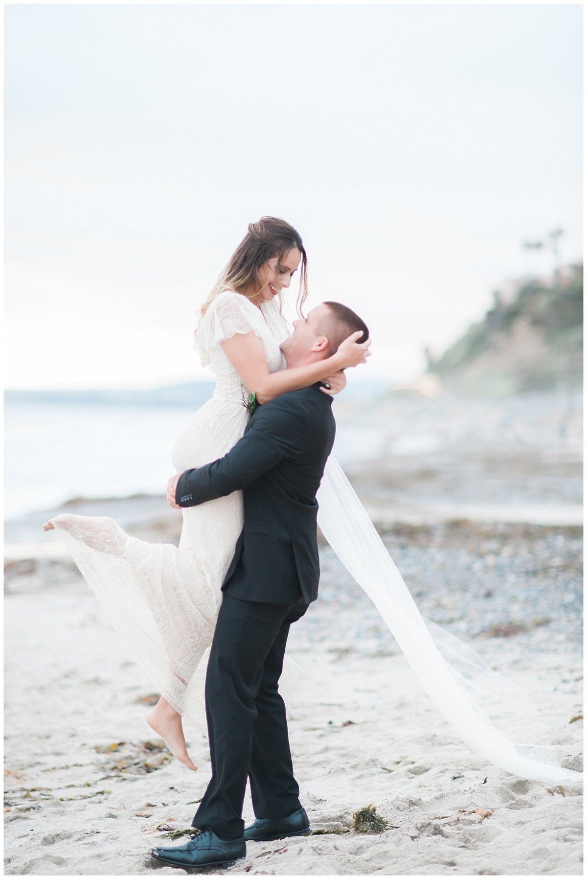 san clemente beach wedding elopement whimsical dreamy soft light socal photo036