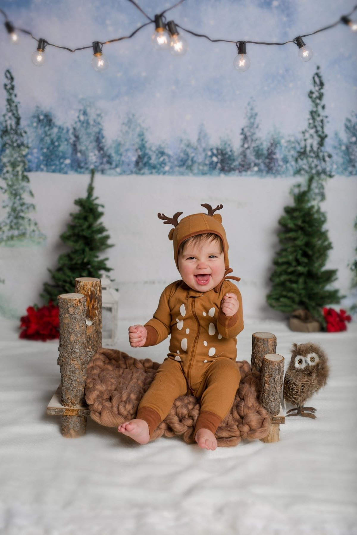 Boy dressed as Christmas Reindeer
