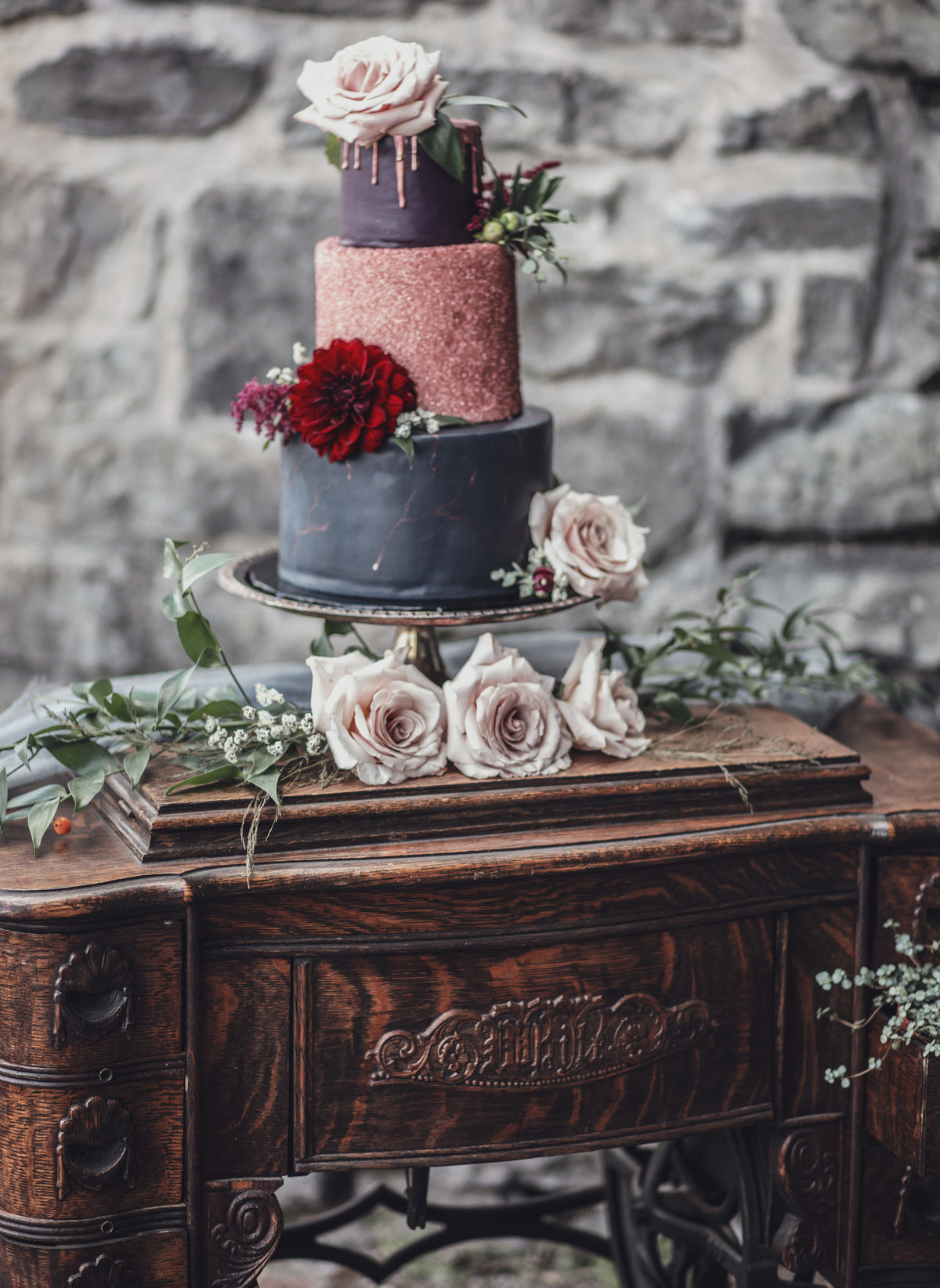 Jewel Toned Boho Fall Wedding Inspiration - Rochester, NY - Verve Event Co (18)