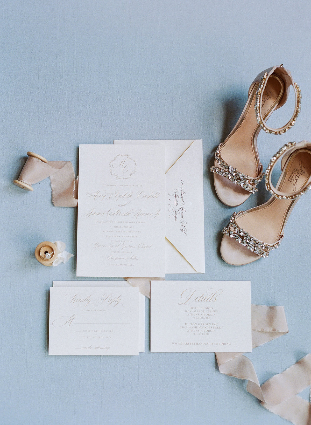 Invitation Suite with Sparkly Shoes