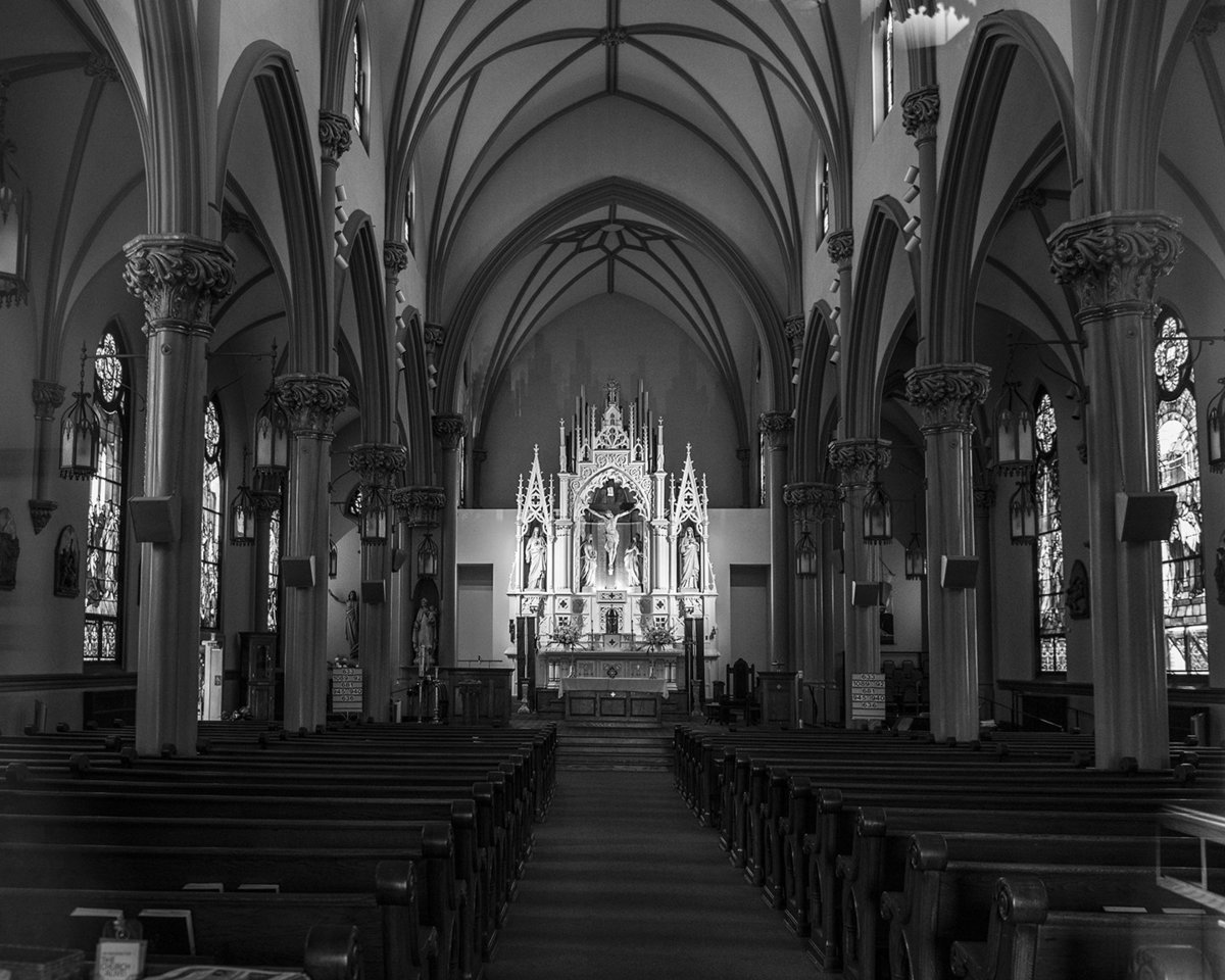 Interior of Church, Church Wedding Photographer