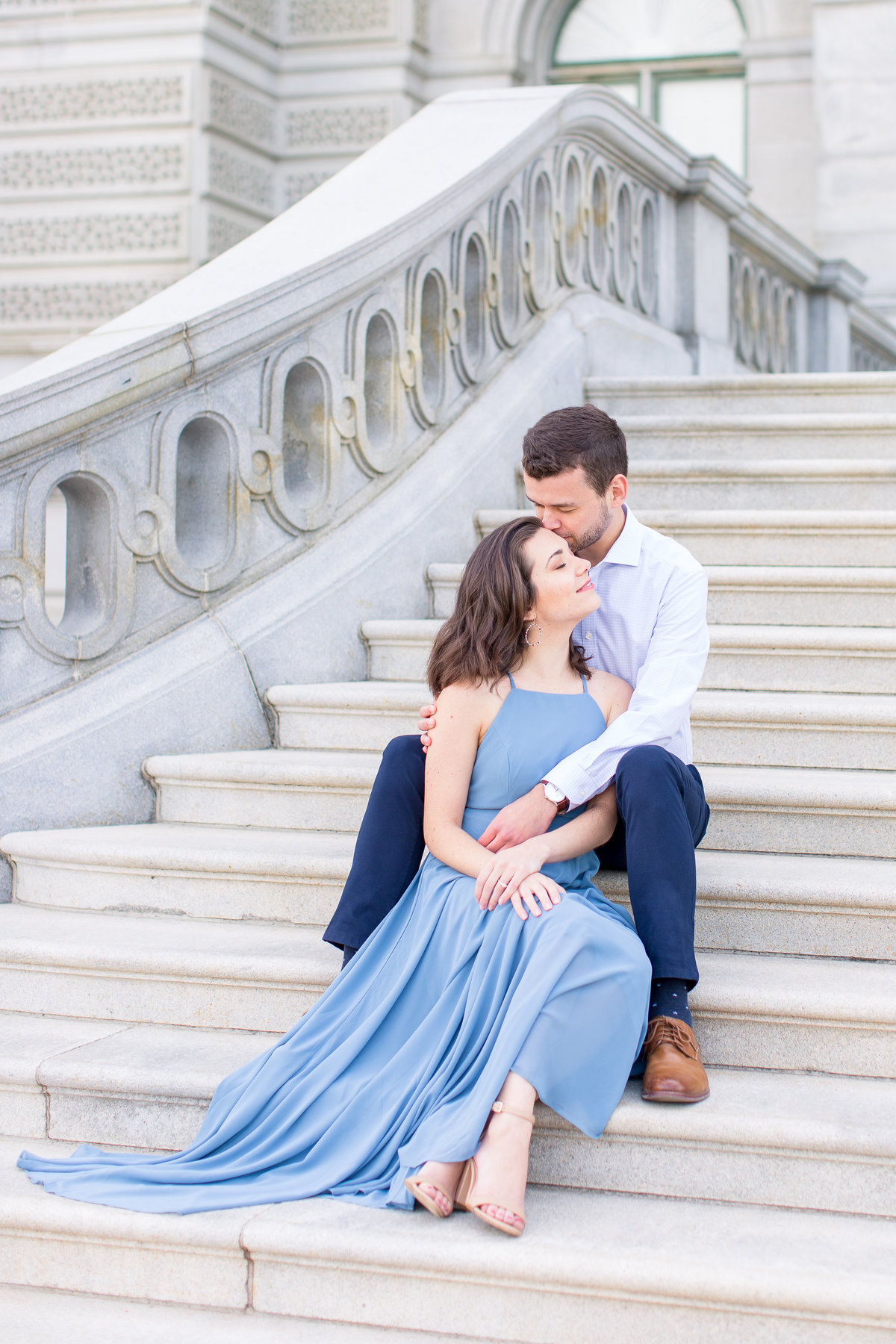 Capitol Building Engagement Session in DC with a visit to Supreme Court Building and Library of Congress | DC Wedding Photographer | Taylor Rose Photography-84