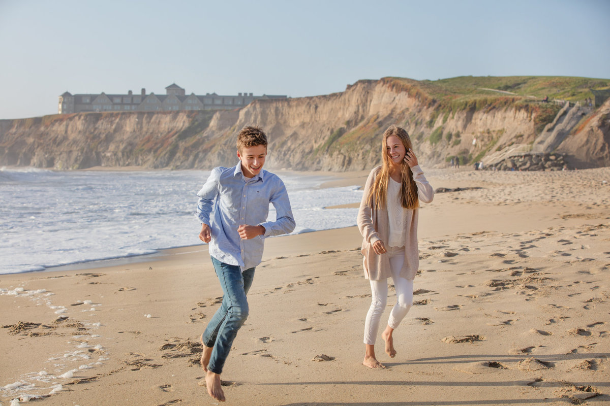Half moon bay, california family photo session