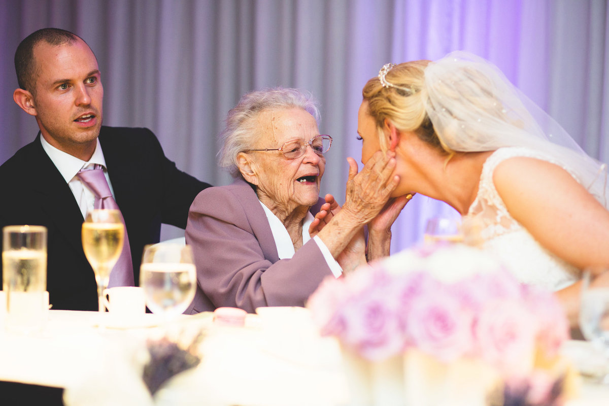 grandma of the bride share moment in the speeches at chester grosvenor hotel