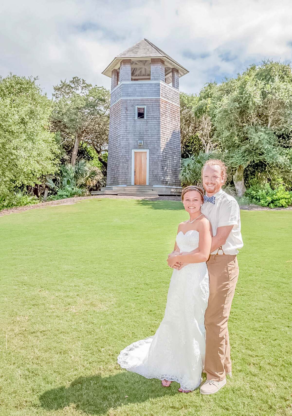 Bald Head Island Wedding Photography - Anna and Ray - Beach Embrace - Wilmington Photographers Team