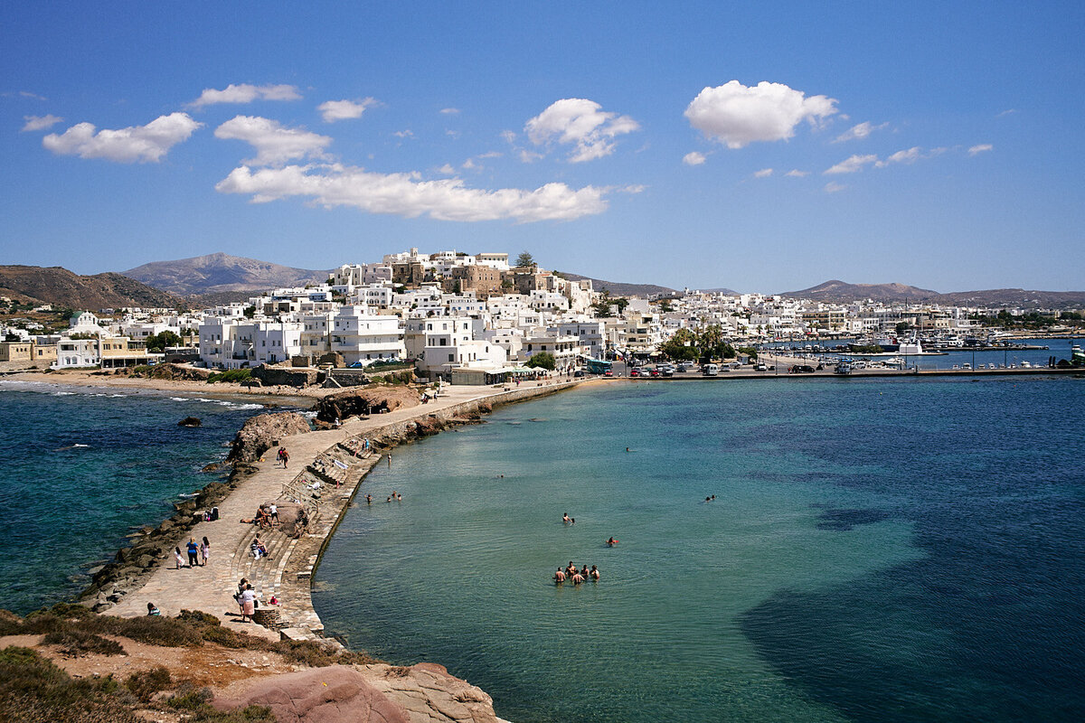 Naxos from the Posidon Temple