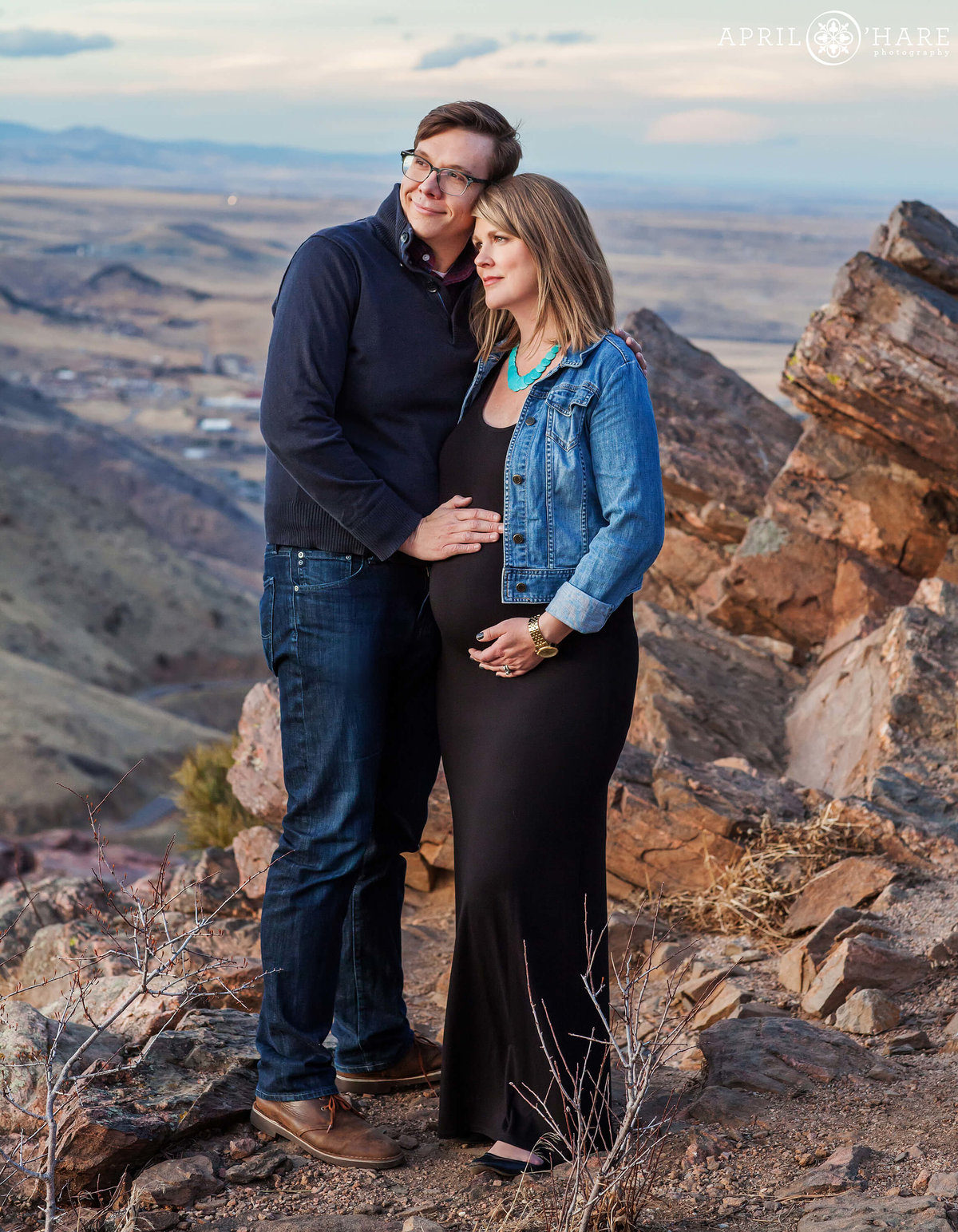 Denver Maternity Photographer at Lookout Mountain Golden Colorado