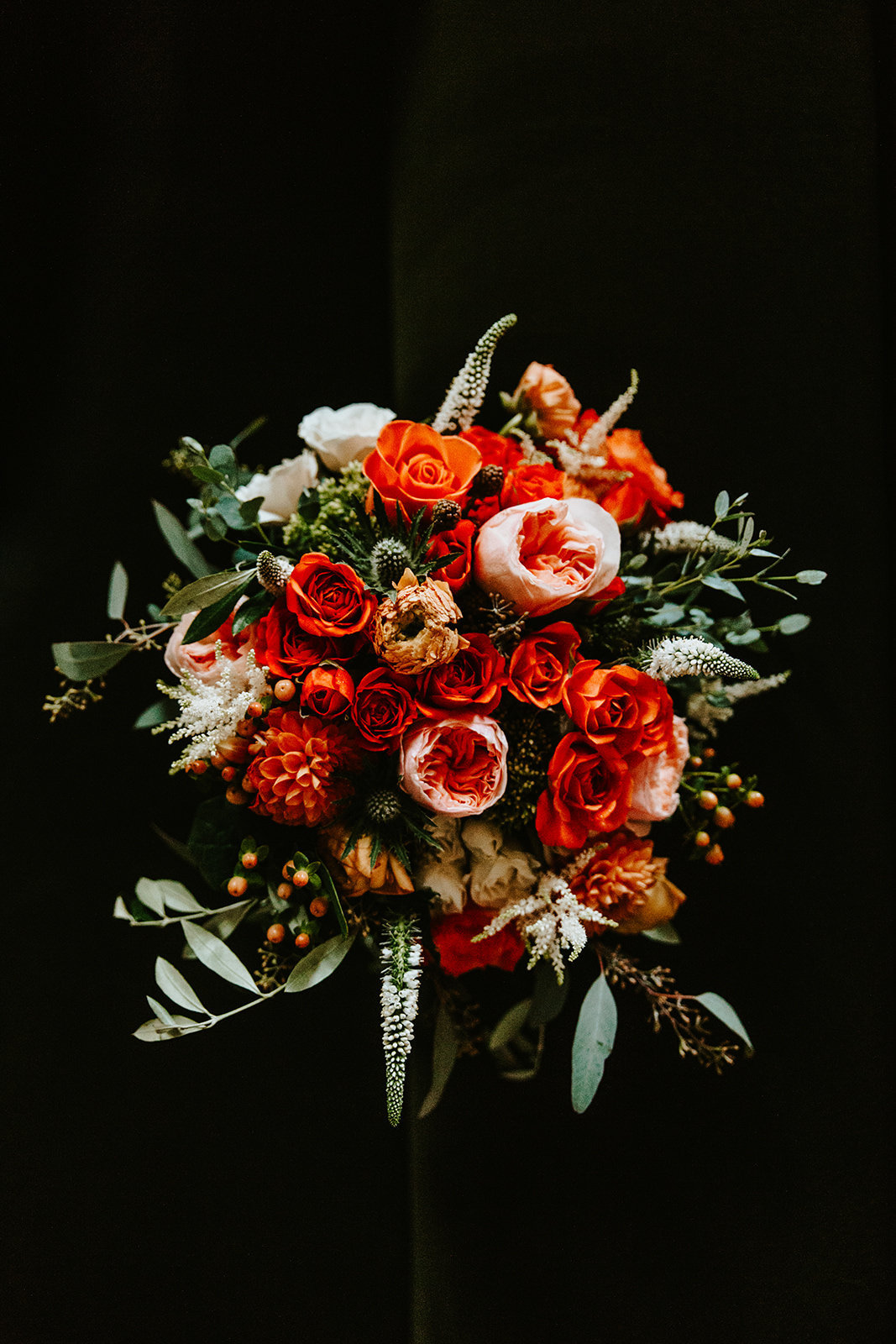 detail shot of bridal bouquet in Aspen Colorado