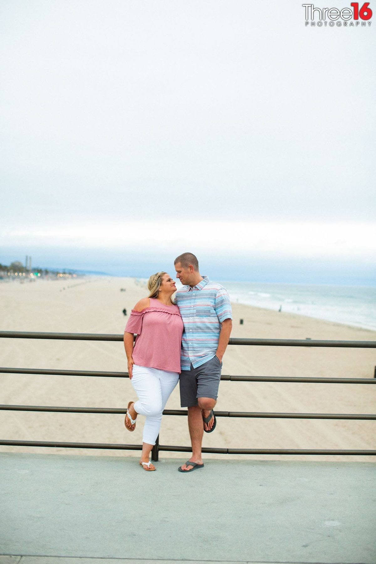 Huntington Pie Engagement Beach Photos