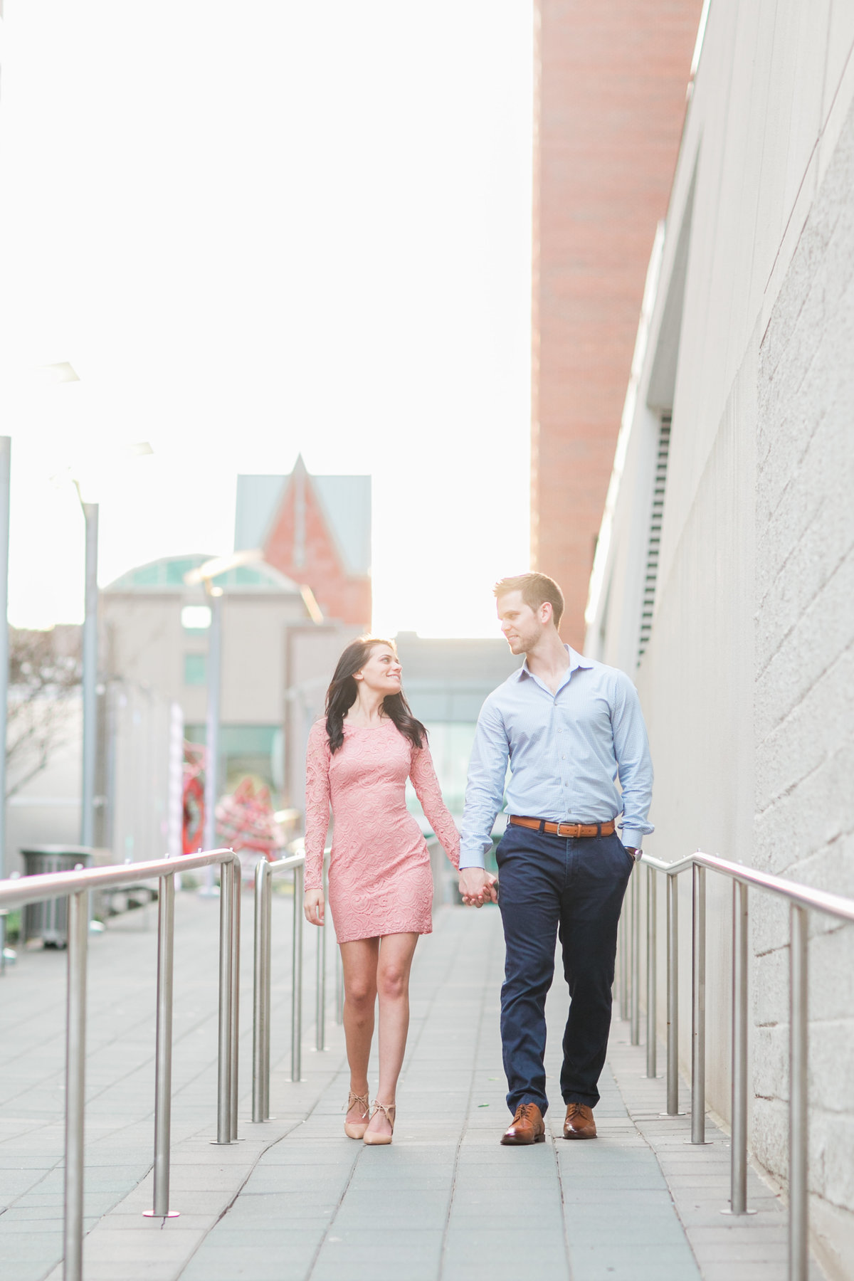 Downtown Raleigh engagement  photography